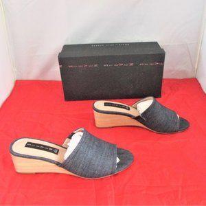 STEVEN NEW YORK Women's Lemur Slip-On Wedge Sandal